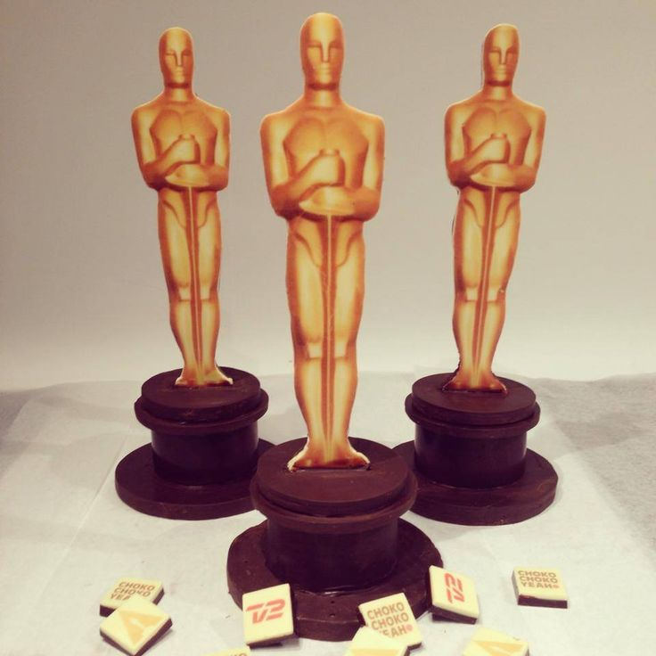 Handmade chocolate Oscar Statues made for Tv2's 2014 Oscars coverage broadcast!