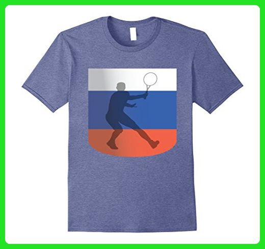 Mens Tennis Russian Sports Tournament T Shirt Small Heather Blue - Sports shirts (*Amazon Partner-Link)