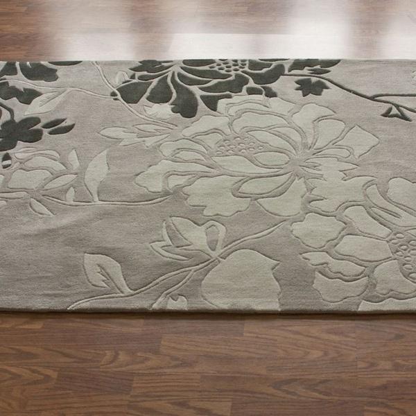 220 49 Bedroom Handmade Alexa Pino Yarrow Fl Rug 6 X 9