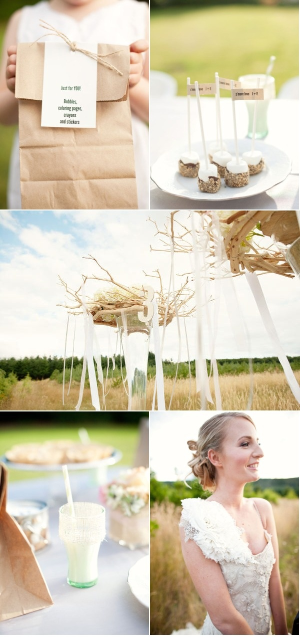 One Divine Party's Smores/Kids Table/Cocoa Tables