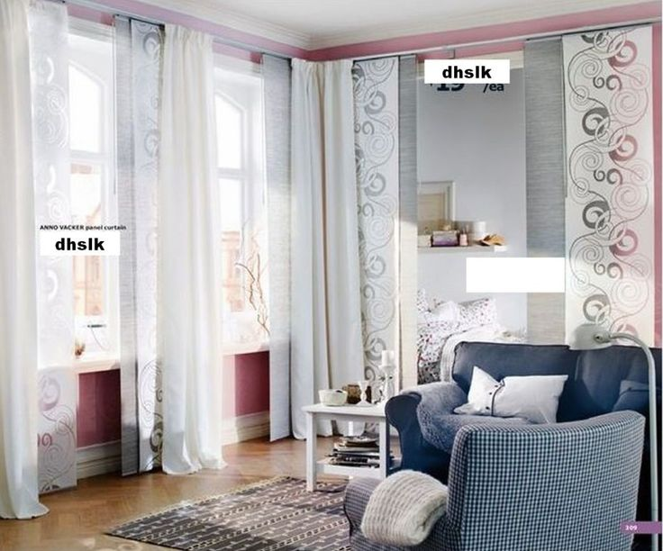 Gorgeous Accessories For Living Room And Home Interior Decoration Using Hanging Fabric Room Dividers : Interesting Living Room Decoration Using Transparent White Hanging Fabric Room Dividers Including Upholstered Dark Blue Living Room Sofa And Sliding Screen Interior Doors