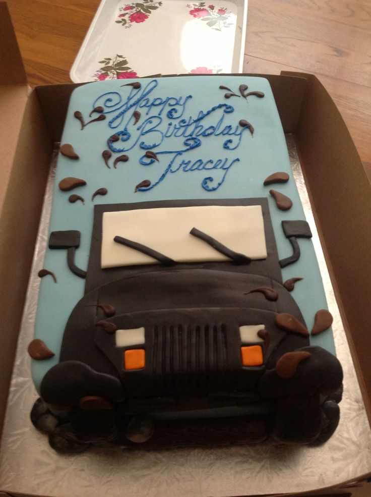 Jeep Birthday Cake Topper Image Inspiration of Cake and Birthday