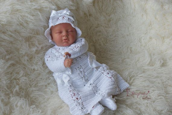 Christening clothes Christening coatBaptism by JozefinkaBoutique