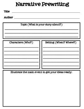 Story maps freebies printable and maps on pinterest for Prewriting outline template