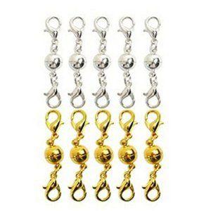 LEORX 10pcs fermoirs pour Bijoux Collier Bracelet magnétique