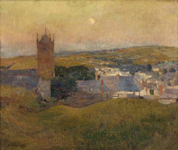 'MOONRISE, CORNWALL' | David Davies (Australia, 1864-1939): Oil on canvas, 51 x 61cm     ✫ღ⊰n