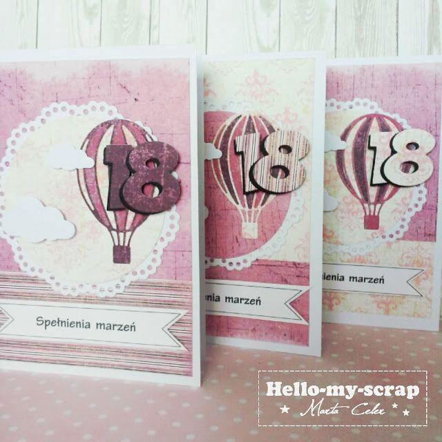 Kartka na 18 Hello-my-scrap: Odlotowe trio