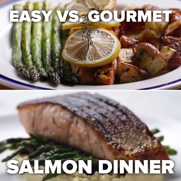 Easy vs. Gourmet Salmon Dinner
