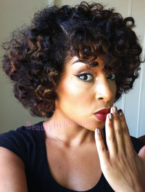 Want to add highlights like this to my brown hair. Heat Stretched Bantu Knot-Out- Natural Hair Styles | Curly Nikki | Natural Hair Styles and Natural Hair Care