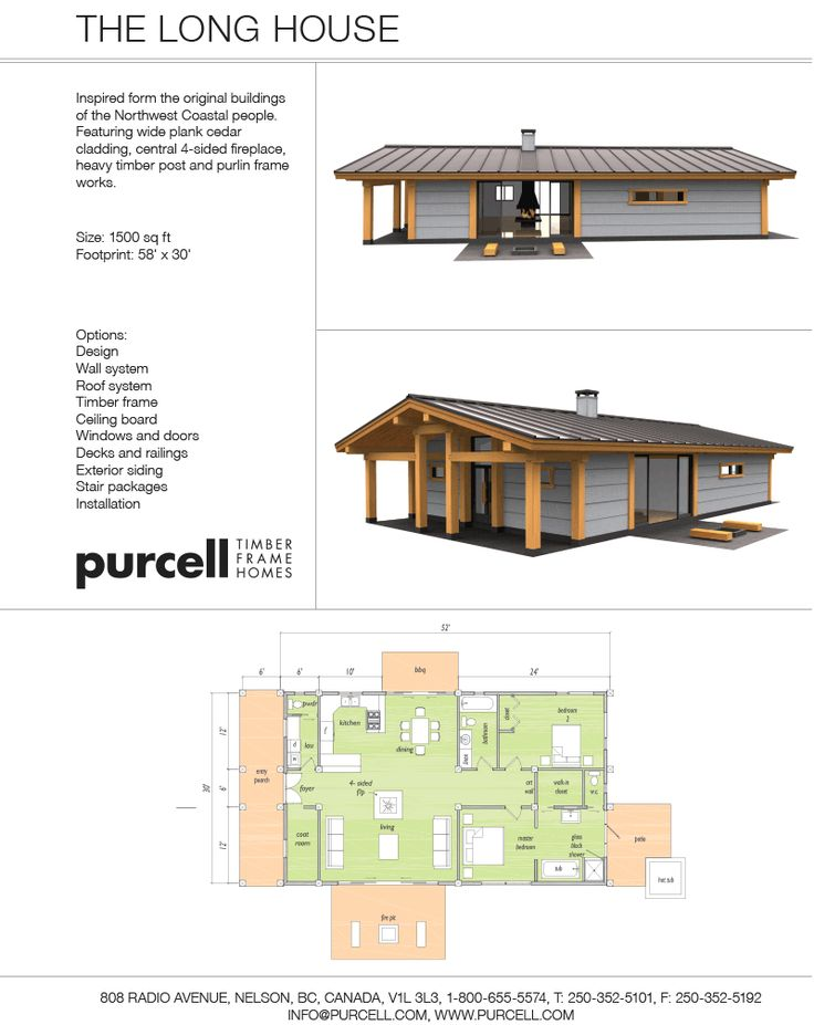 Purcell Timber Frames - Precrafted Home Company - Полный дом для дома Prefab