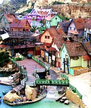 Different angle of the Popeye Village with the dock units at the bottom that I like. -Lainey