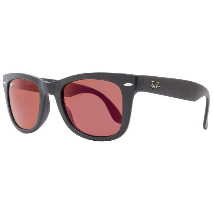 Ray-Ban Wayfarer RB4105 601S/2K Unisex Matte /Brown Frame Purple Mirrored Lens Sunglasses