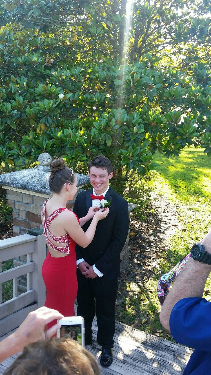 Prom . Red Dress . Upside Down French Braid Bun . Prom 2016 @reaghind