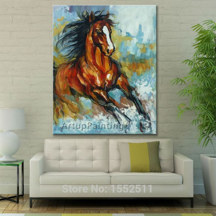 Find More Painting & Calligraphy Information about Oil painting On Canvas Wall Pictures For Living Room Wall Art Canvas Pop art Running Horse modern abstract hand painted paint,High Quality Painting & Calligraphy from ArtupPainting on Aliexpress.com