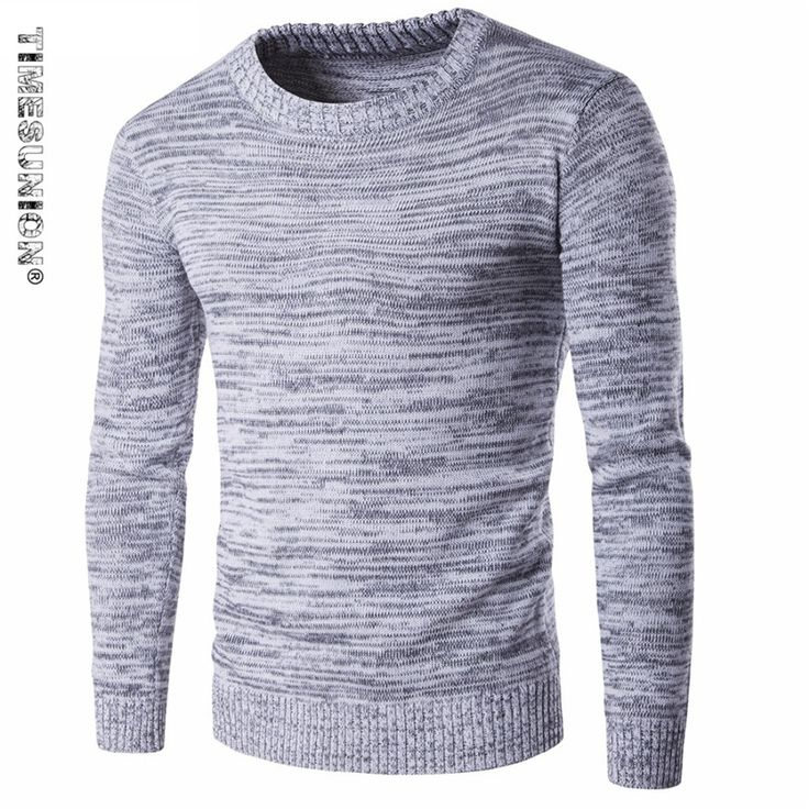 TIMESUNION 2017 winter o-neck solid color sweater men's clothing thick  sweater outerwear sweater male