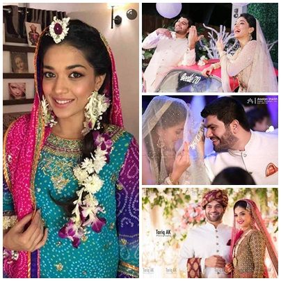 Pakistani Actress Sanam Jung Wedding Pics Unseen