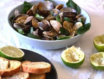"""Malaysian Black Pepper Clams - This Malaysian dish has been a favorite at Susan Fenigar's """"Street"""" restaurant. The recipe is from her cookbook."""