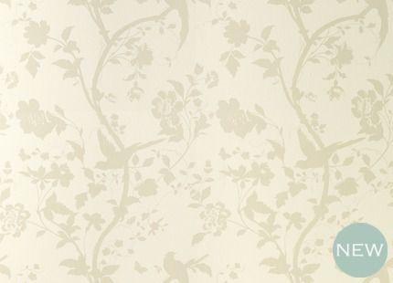 Oriental Garden Natural Floral Wallpaper