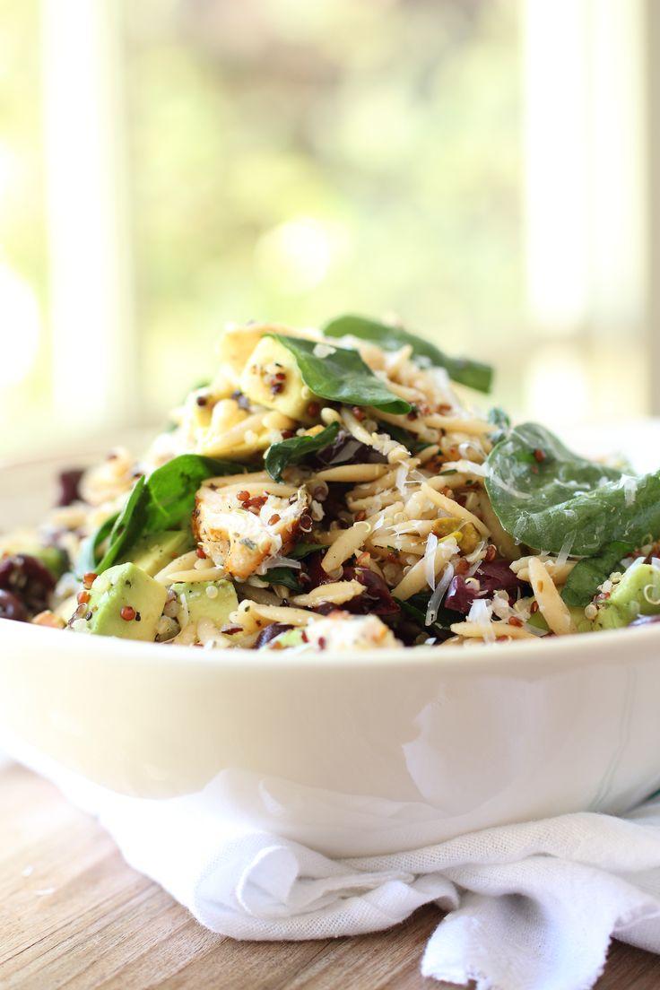 Quinoa and chicken Orzo Pasta Salad - Foodness Gracious