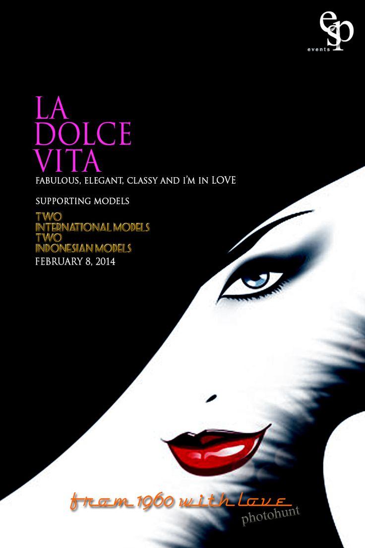 La Dolce Vita Poster Desain