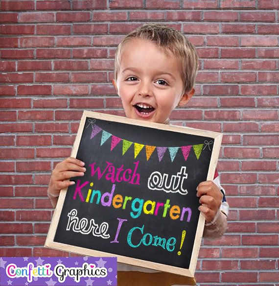 Watch Out Kindergarten Here I Come Preschool Graduation Grad Chalkboard Chalk Photo Prop Sign End of the Year Instant Download