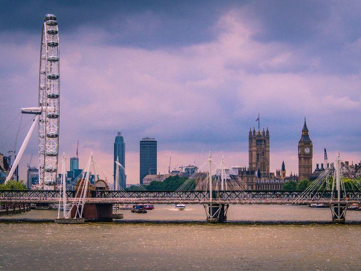 Looking towards London Eye & Big Ben