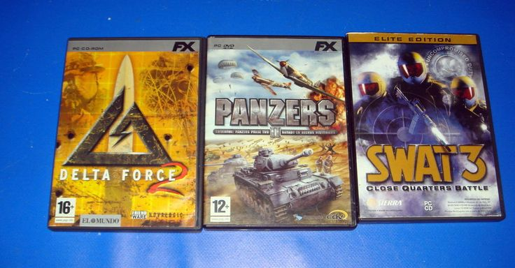 Tres juegos de PC- DELTA FORCE 2 -PANZERS II-SWAT 3 elite edition