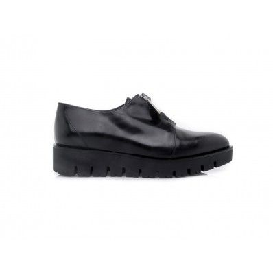 #PINKO Shoes woman Isotrone top zip closure in leather - Black - Elsa-boutique.it