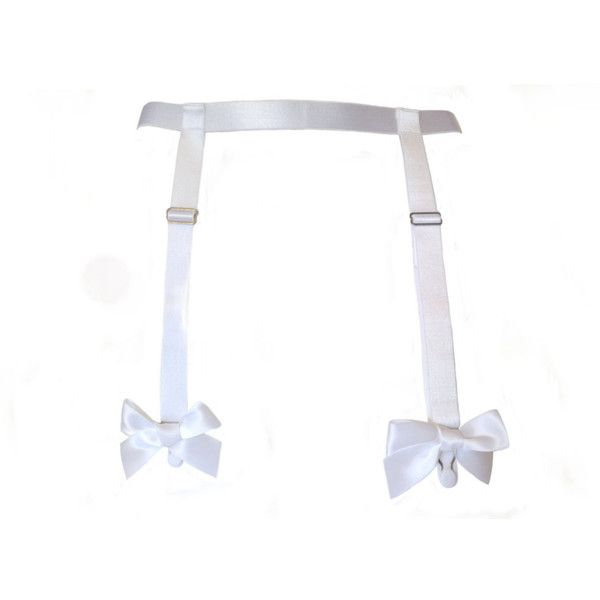 Sugarplum Garter Belt - white satin suspender belt - hand made to... ($50) ❤ liked on Polyvore featuring intimates, accessories, garter, white, garter belt and suspender belt