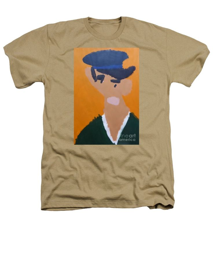 Patrick Heathers T-Shirt featuring the painting Young Man With A Hat 2014 - After Vincent Van Gogh by Patrick Francis