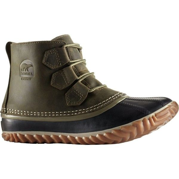 Sorel Out N About Leather Boot (145 CAD) ❤ liked on Polyvore featuring shoes, boots, water proof boots, sorel footwear, sorel, waterproof leather shoes and waterproof leather boots