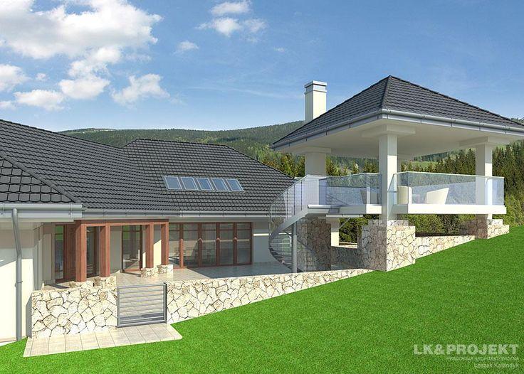 Projekty domów LK&Projekt LK&755 wizualizacja 4
