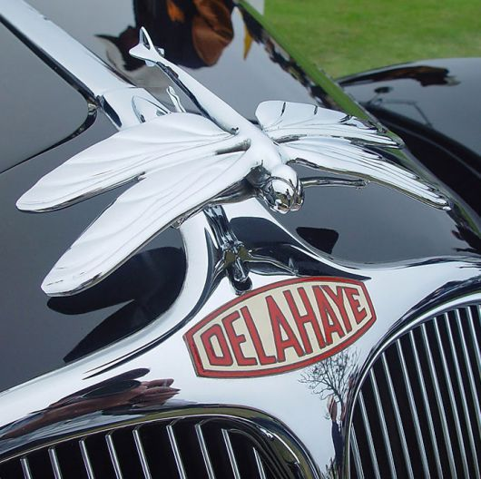 The hood ornament of all hood ornaments!  Delahaye was a French company started in Tours in 1895.