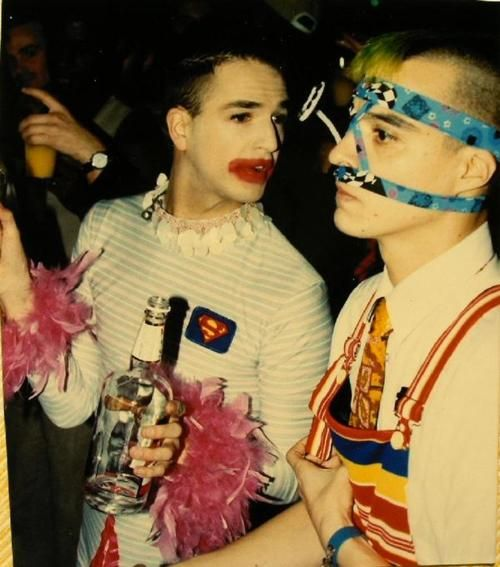 Michael Alig and Ernie Glam at Outlaw Party, 1992.