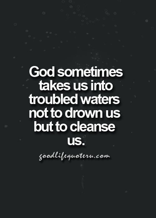 This is so true. Trust in God.