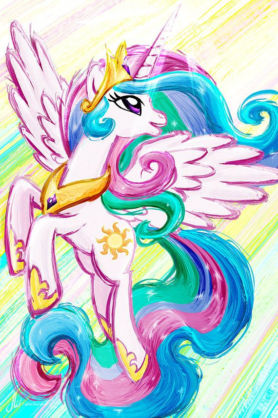 Princesa Celestia  My Little Pony amistad es magia Art Print