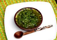 Chimichurri. A sauce of herbs, garlic, and vinegar.: American Food, Chimichurri Marinades, Chimmichurri Marinades, Steaks, Chimichurri Sauces, Grilled Meat, Chimichurri Recipes, Sauces Recipes, Argentinian Chimichurri