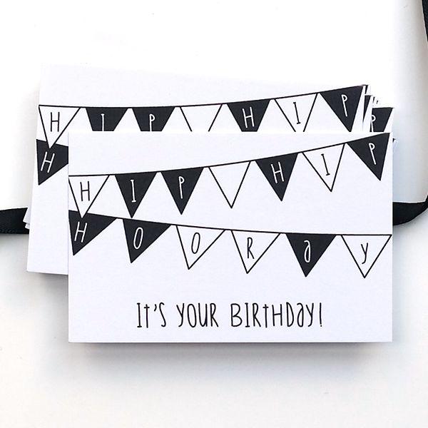 Kadokaartje uit de webshop: hip hip hooray. Leuk bij een verjaardagskadootje!