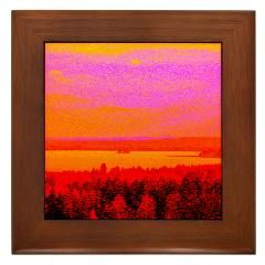 Sunset glow Framed Tile