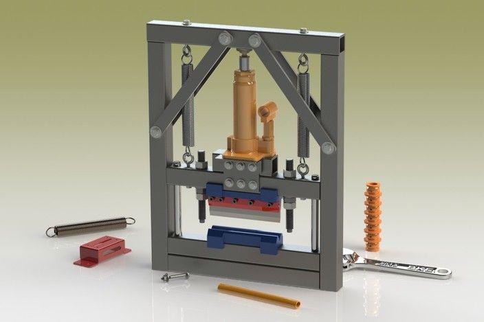 Sheet-Metal Mini Workshop Press Brake - STL, STEP / IGES, SOLIDWORKS - 3D CAD model - GrabCAD