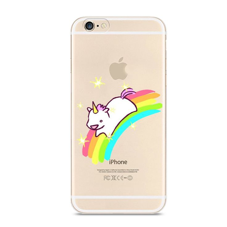 """iPhone 7 Case,Novelty Animal Pattern on Soft TPU Silicone Protective Skin Ultra Slim & Clear with Unique Art Design Gift Bumper Back Cover for iPhone 7 4.7 inch,unicorn running on rainbow. Brand new in high quality perfect fit for iPhone 7 (4.7""""). FEATURE : 'Cute & Funny Pattern' on the Case in high quality with high definition,do not fade & not sticker;'Unique Style' with full of personality absolutely attract people,one of a kind best one to send it to yourself or friends or families or..."""