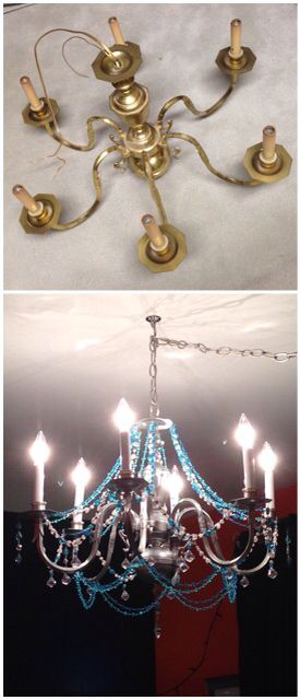 DIY chandelier....turned out amazing!