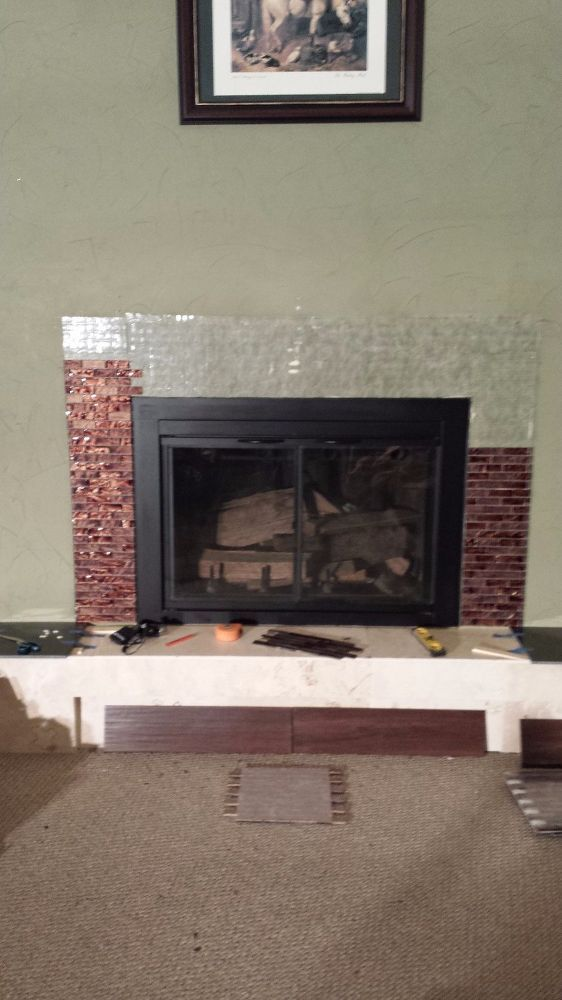 Revamp an Ugly Brick Fireplace (Without Painting It ...