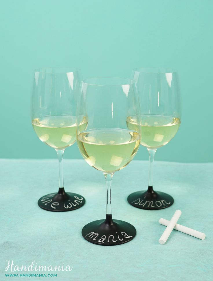 58 best wine accessories images on pinterest wine glass wine how to make personalized chalkboard wine glasses diy crafts handimania ccuart Gallery