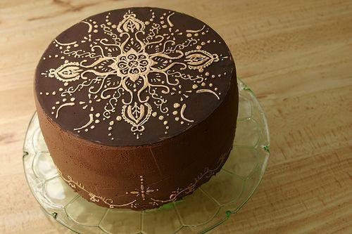 Gold Henna cake