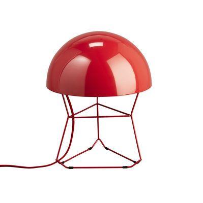 Scopri Lampada da tavolo Dom -Small - H 34 cm, Rosso di Forestier, Made In Design Italia