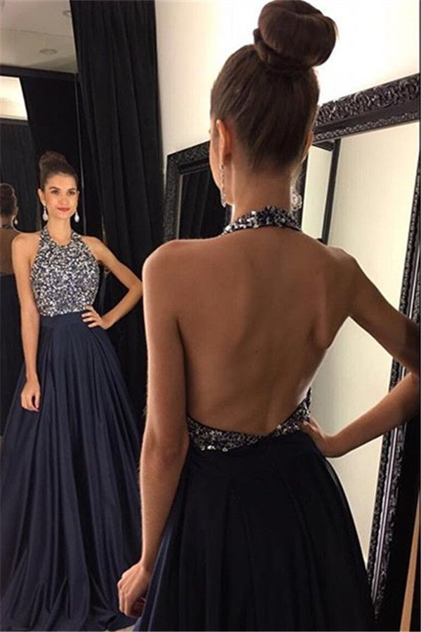 Backless Prom Dress,Halter Formal Gown,Fashion Prom Dress,Sexy Party