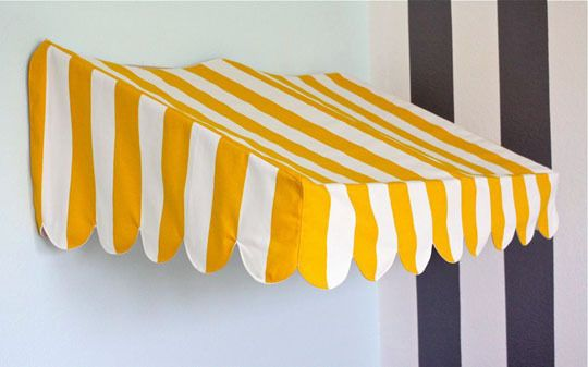 mini bistro awning for your kids play store Lots of play grocery store ideas