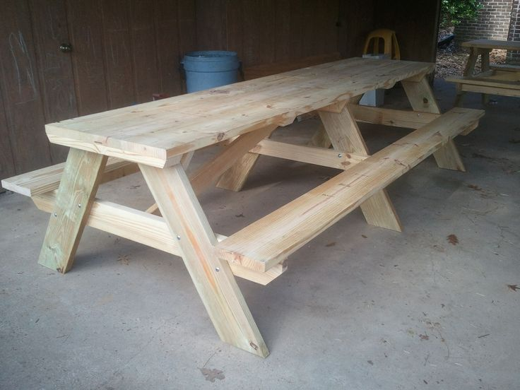 15 best ideas about picnic tables on pinterest diy for Rustic picnic table plans