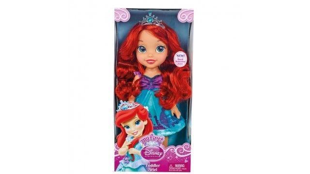 Disney Princess Pop Ariel 35cm  Beleef leuke avonturen met deze mooie pop van prinses Ariel. Borstel haar haar en laat het haar glanzen! Afmeting ca. 35 cm.  EUR 37.95  Meer informatie